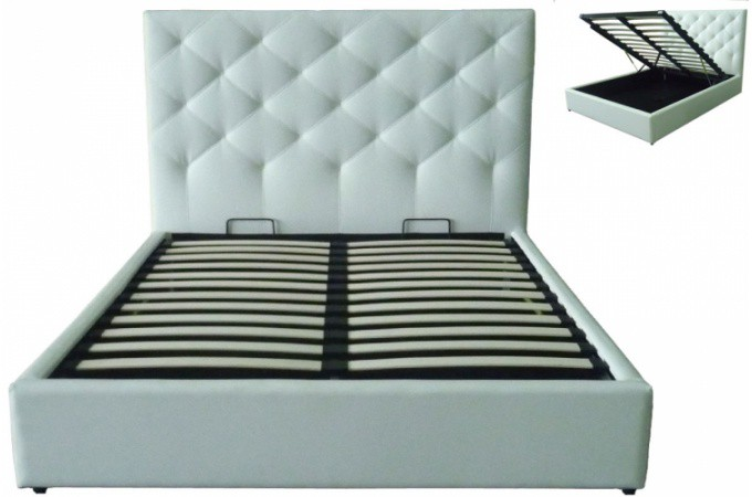 lit coffre blanc 160x200 maison design. Black Bedroom Furniture Sets. Home Design Ideas
