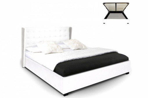 lit coffre simili cuir blanc rabatya 180x200 cm lit. Black Bedroom Furniture Sets. Home Design Ideas