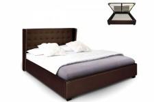 lit design pas cher lit capitonn simili cuir lit. Black Bedroom Furniture Sets. Home Design Ideas