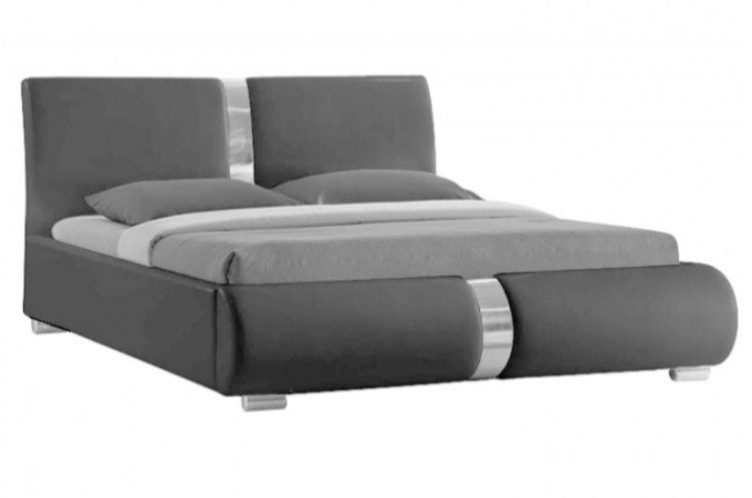 lit design gris vitara 140 cm lits design pas cher. Black Bedroom Furniture Sets. Home Design Ideas