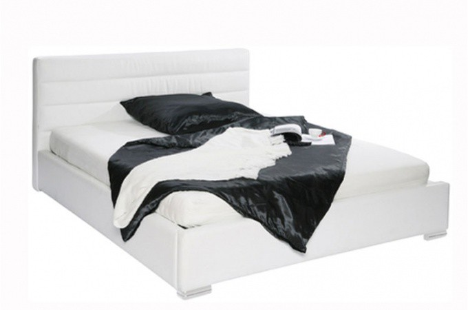 lit matelass blanc icecubes 160x200 declikdeco. Black Bedroom Furniture Sets. Home Design Ideas