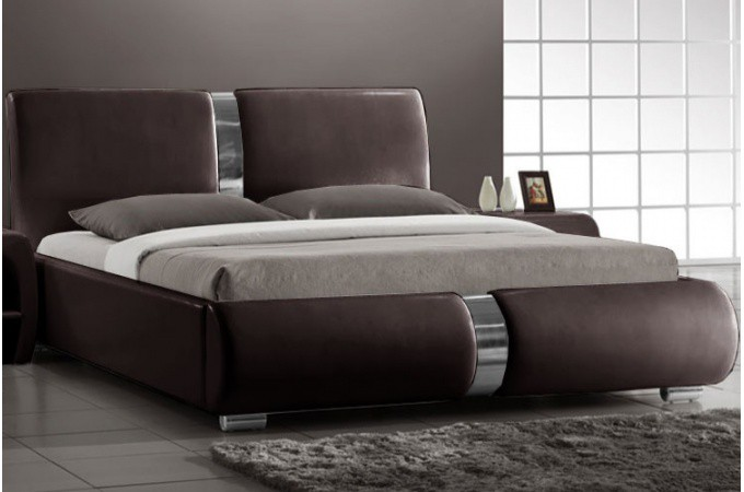 Lit design choco vitara 160x200 cm lits design pas cher - Lit simili cuir pas cher ...