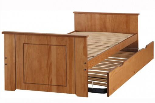 lit gigogne miel avec deux matelas inclus achetez votre literie sur. Black Bedroom Furniture Sets. Home Design Ideas