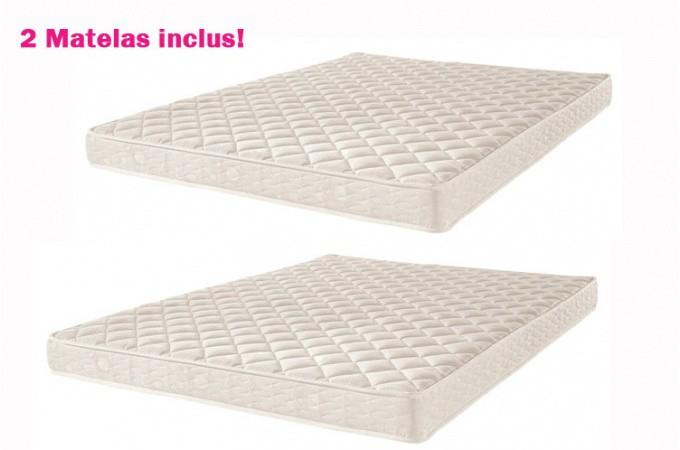 Lit gigogne avec deux matelas inclus achetez votre literie sur - Matelas pour lit gigogne ...