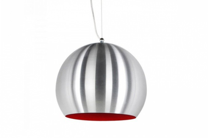 Lampe suspension paolo alu rouge lustres suspensions for Lampe suspension pas cher