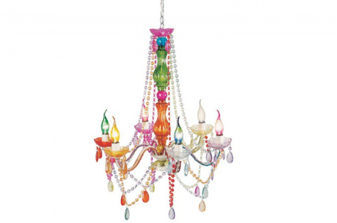 lustre baroque multicolore 6 bras crystal lustres suspensions pas cher. Black Bedroom Furniture Sets. Home Design Ideas