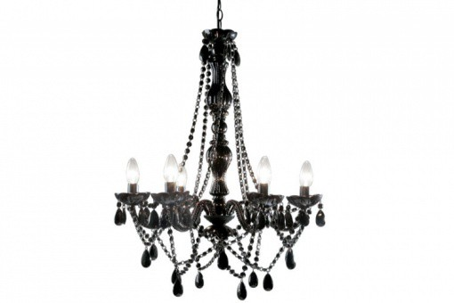 lustre baroque noir 6 bras crystal lustres suspensions pas cher. Black Bedroom Furniture Sets. Home Design Ideas