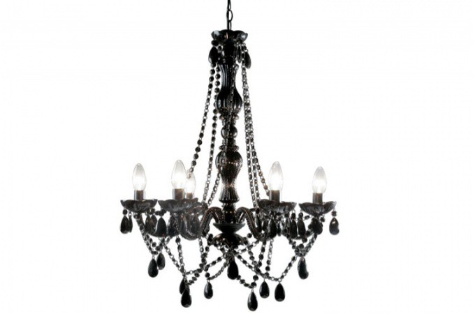 lustre baroque noir 6 bras crystal lustres suspensions. Black Bedroom Furniture Sets. Home Design Ideas