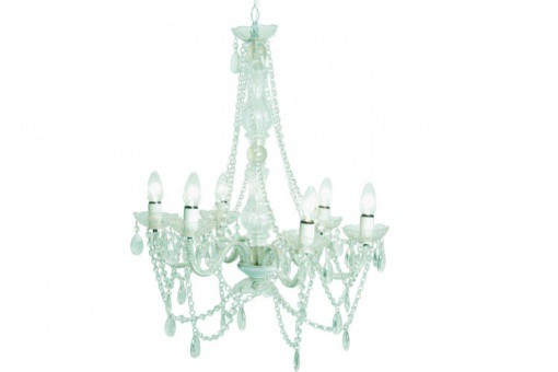 Lustre Baroque Transparent 6 Bras Crystal
