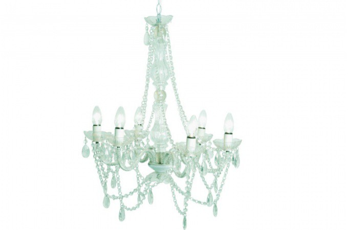 lustre baroque transparent 6 bras crystal lustres. Black Bedroom Furniture Sets. Home Design Ideas
