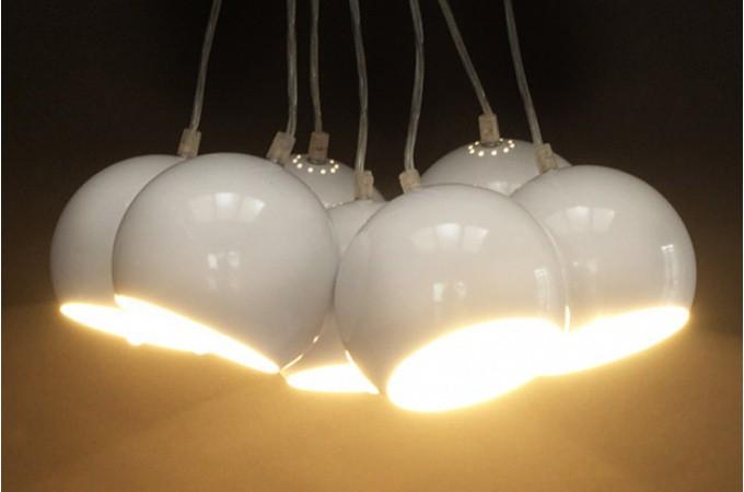 Lustre boule Buble blanc - Lustres & Suspensions Pas Cher