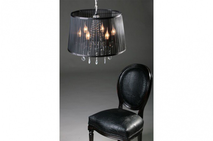 lustre baroque cosy noir lustres suspensions pas cher. Black Bedroom Furniture Sets. Home Design Ideas