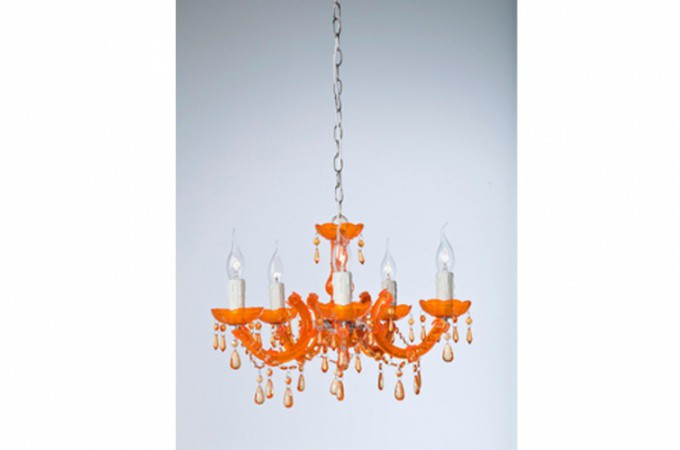 Lustre baroque diamant orange eternity lustre pas cher for Lustre salon pas cher