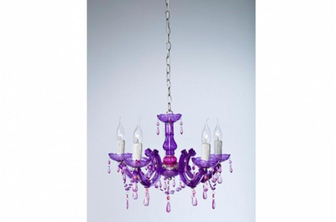 lustre baroque kare design diamant violet eternity lustre pas cher. Black Bedroom Furniture Sets. Home Design Ideas