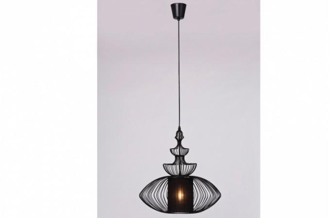 suspension kare design en fer noir ovale magalie declikdeco. Black Bedroom Furniture Sets. Home Design Ideas