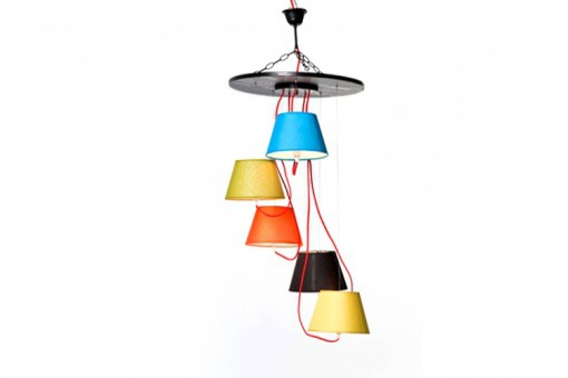 KARE DESIGN - Suspensions 5 Lampes Multicolores Cameleon