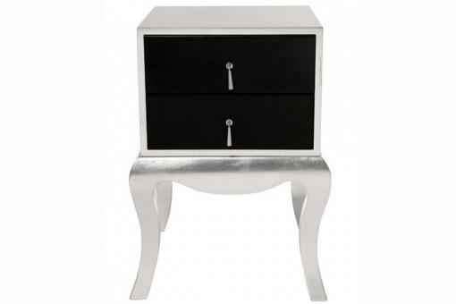 chevet baroque argent et noir luxury tables de chevets pas cher. Black Bedroom Furniture Sets. Home Design Ideas