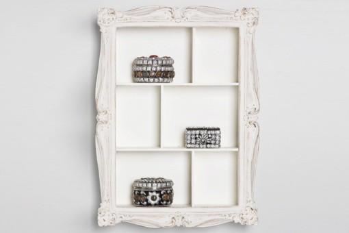 etag re murale baroque blanche louise 43 cm etag res pas cher. Black Bedroom Furniture Sets. Home Design Ideas