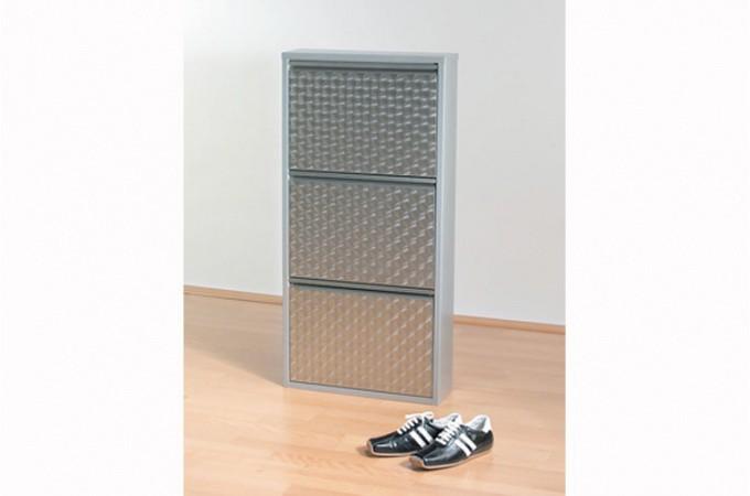 Rangement chaussures aluminium - Meuble de rangement chaussures design ...