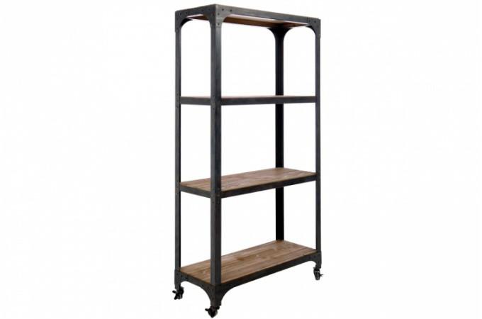 Etag re industrielle en bois etag re en bois pas ch re - Etagere pas chere bois ...