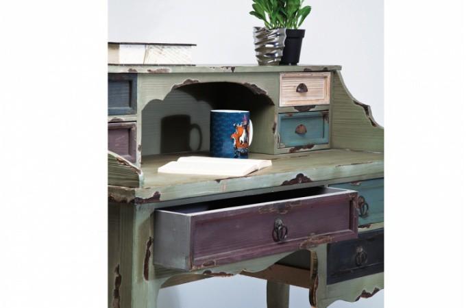 secr taire kare design industrie en bois color tommy bureau pas cher. Black Bedroom Furniture Sets. Home Design Ideas