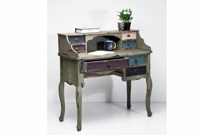 secr taire industrie en bois color tommy bureau pas cher. Black Bedroom Furniture Sets. Home Design Ideas