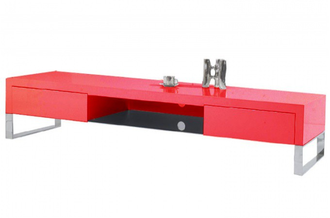Declikdeco Meuble T L Laqu Rouge Arto Supplier