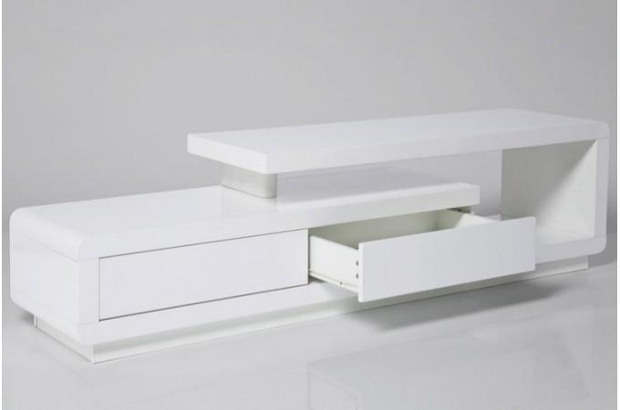 Meuble Tv Blanc Magnus : Détails Sur Meuble Tv Blanc Kare Design Laqué Avec Tiroirs People