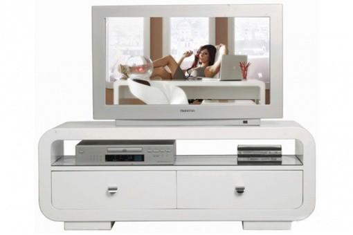 Meuble tv blanc laqu design club meubles tv pas cher for Club meuble avantage