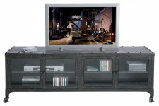 KARE DESIGN - Meuble Tv Factory en métal gris anthracite style Industriel - Rangement meuble salon design