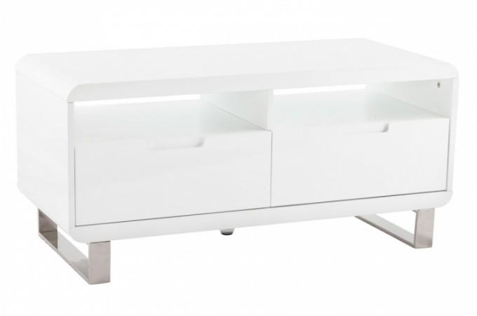 Meuble tv laqu blanc tommy meubles de rangement pas cher - Petit meuble blanc laque ...