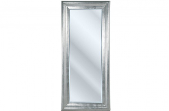 Grand miroir vertical argent prima 90 x 200 cm declikdeco for Grand miroir rectangulaire design