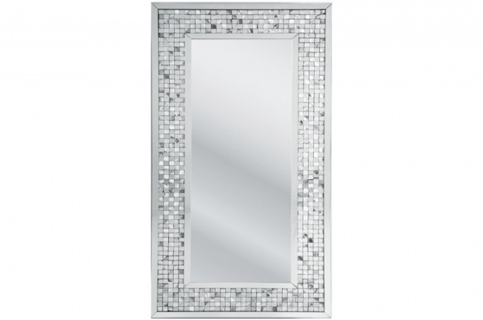 Miroir avec bords en mosaique martial 160 x 80 miroir design declikdeco for Miroir mosaique design