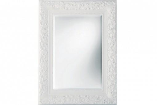 Miroir baroque blanc 95x120 cm miroirs pas cher declik deco for Miroir baroque pas cher