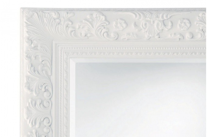 miroir baroque blanc 95x120 cm miroirs pas cher declik deco. Black Bedroom Furniture Sets. Home Design Ideas