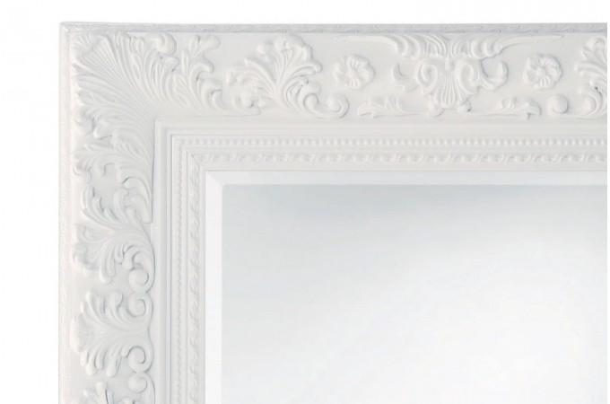 Miroir baroque blanc 95x120 cm miroirs pas cher declik deco for Miroir blanc rectangulaire