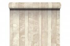 Papier Peints Brique & Pierre Papier Peint Ardoise Lamelles Beige , deco design