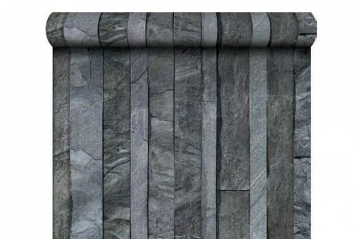 papier peint ardoise lamelles grise papiers peints brique pierres pas cher. Black Bedroom Furniture Sets. Home Design Ideas