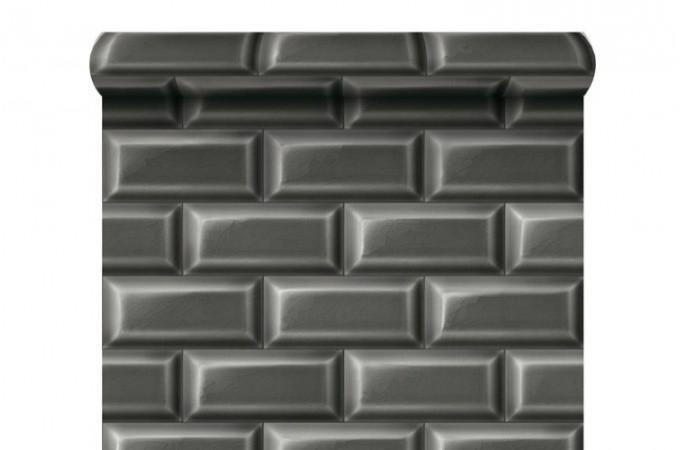 papier peint carrelages de m tro gris anthracite papiers peints brique pierres pas cher. Black Bedroom Furniture Sets. Home Design Ideas