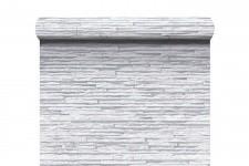 Papier Peints Brique & Pierre Papier Peint Lamelles Blanche Grisée en Strates , deco design