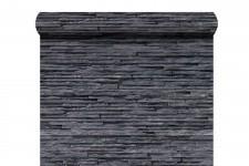 Papier Peints Brique & Pierre Papier peint Lamelles grises en strates, deco design