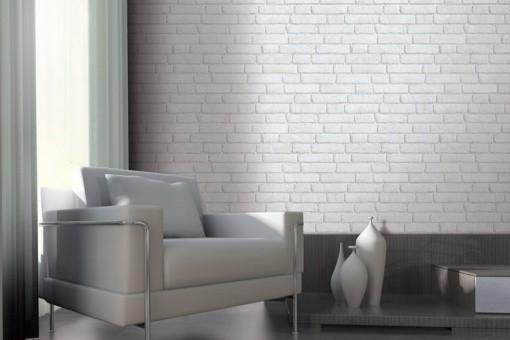 papier peint brique ancienne blanche papiers peints. Black Bedroom Furniture Sets. Home Design Ideas