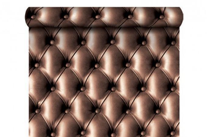 p papier peint capitonne marron chocolat