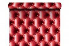 Papier Peint Capitonné Rouge , deco design