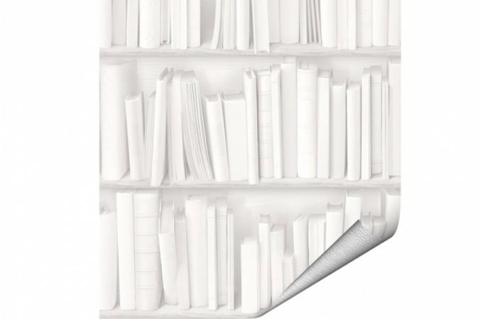 Papier peint blanc pas cher papier peint blanc sur for Papier peint trompe l oeil moulures