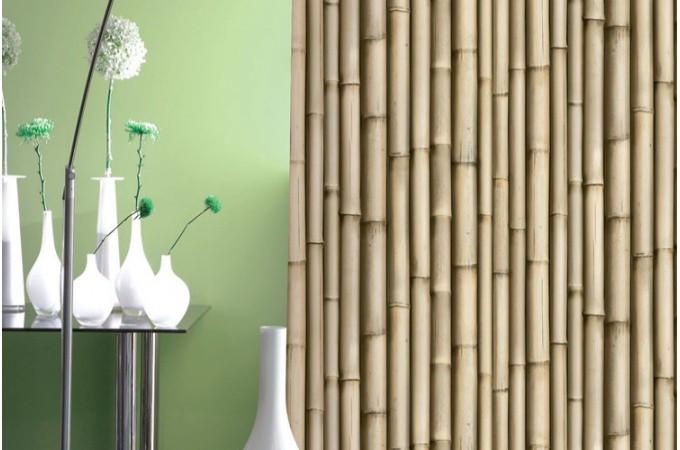papier peint trompe l 39 oeil bambou papiers peints zen pas. Black Bedroom Furniture Sets. Home Design Ideas
