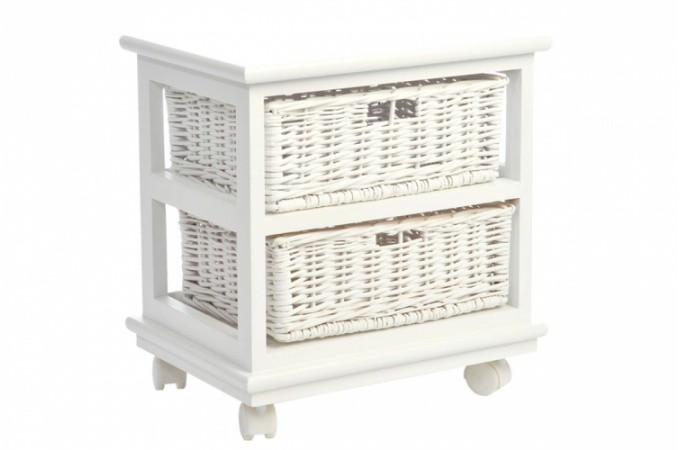 Meuble de rangement pas cher etag re malle commode for Petit meuble en osier