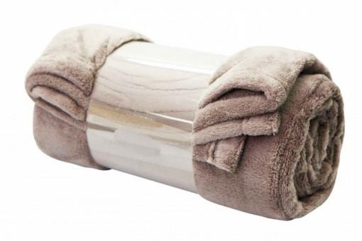 plaid deco naturel 130x160 cm plaids pas cher declik deco. Black Bedroom Furniture Sets. Home Design Ideas