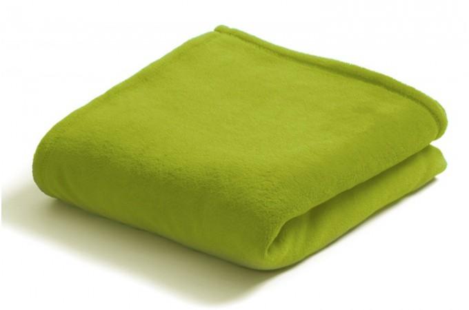 Declikdeco  Plaid doux polyester vert anis 125x150 cm