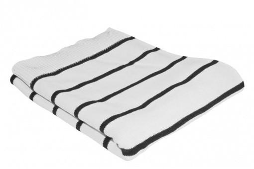 plaid marin blanc noir plaids pas cher declik deco. Black Bedroom Furniture Sets. Home Design Ideas